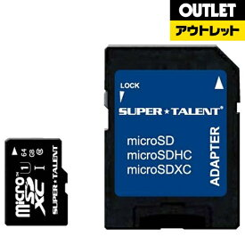 SUPERTALENT スーパータレント 【アウトレット品】64GB・UHS Speed Class1(Class10)対応microSDXCカード(SDXC変換アダプタ付) ST64MSU1P【数量限定品】ST64MSU1P 【kk9n0d18p】