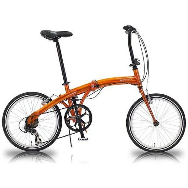 【送料無料】 WACHSEN 20型 折りたたみ自転車 ORAN(オレンジ/6段変速) WBA-2001【組立商品につき返品不可】 【代金引換配送不可】