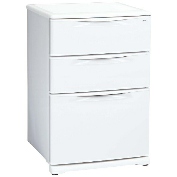 【標準設置費込み】 AQUA アクア AQF-12RE 冷凍庫 クールホワイト [3ドア /引き出しタイプ /124L][AQF12REクールホワイト]