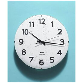 イデアインターナショナル IDEA INTERNATIONAL 電波掛け時計 「モノクロウッドクロック」 ブルーノ(BRUNO) ホワイト BCR013-WH [電波自動受信機能有]