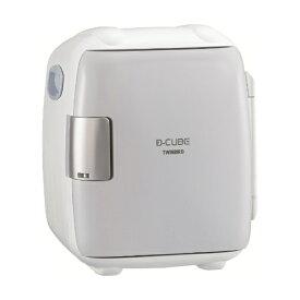 ツインバード TWINBIRD HR-DB06GY コンパクト電子保冷保温ボックス[2電源式] D-CUBE S グレー[冷蔵庫 小型 一人暮らし 静音 HRDB06GY]