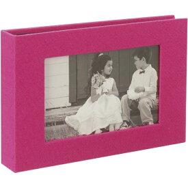 セキセイ SEKISEI HARPER HOUSE フレームアルバムLサイズ40枚収容(ピンク)
