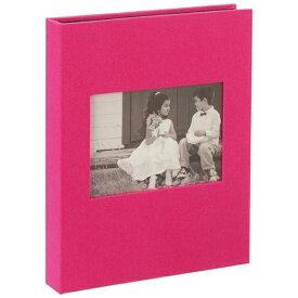 セキセイ SEKISEI HARPER HOUSE フレームアルバムLサイズ80枚収容(ピンク)