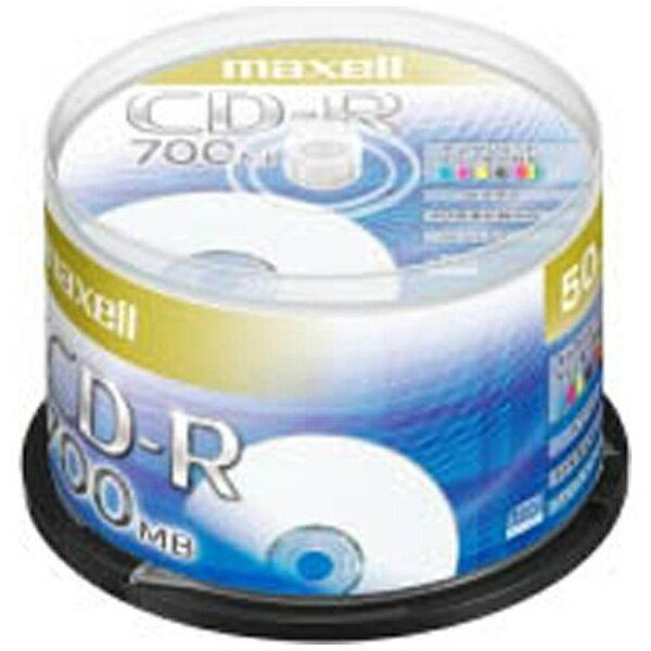 マクセル Maxell 1〜48倍速対応 データ用CD-Rメディア (700MB・50枚) CDR700S.PNW.50SP