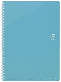 コクヨ KOKUYO [ノート] ソフトリングノート(ドット入り罫線) ライトブルー (セミB5・中横罫・40枚) ス-SV301BT-LB