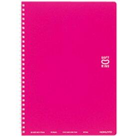 コクヨ KOKUYO [ノート] ソフトリングノート(ドット入り罫線) ピンク (セミB5・中横罫・40枚) ス-SV301BT-P