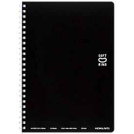 コクヨ KOKUYO [ノート] ソフトリングノート(ドット入り罫線) ブラック (A5・中横罫・50枚) ス-SV331BT-D