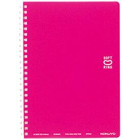 コクヨ KOKUYO [ノート] ソフトリングノート(ドット入り罫線) ピンク (A5・中横罫・50枚) ス-SV331BT-P