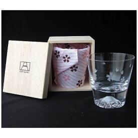 田島硝子 TAJIMA GLASS 富士山グラス ロックグラス 桜切子 TG16-015-R[TG16015R]