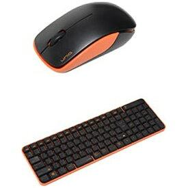 UNIQ ユニーク MK48367GBO ワイヤレスキーボード・マウス ブラック・オレンジ [USB /ワイヤレス][MK48367GBO]