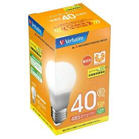 三菱ケミカルメディア MITSUBISHI CHEMICAL MEDIA 【ビックカメラグループオリジナル】LDA5L-G/VP5 LED電球 バーベイタム(Verbatim) [E26 /電球色 /1個 /40W相当 /一般電球形 /広配光タイプ][LDA5LGVP5]