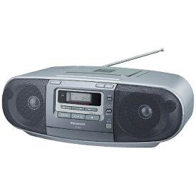 パナソニック Panasonic RX-D47 ラジカセ シルバー [ワイドFM対応 /CDラジカセ][RXD47S] panasonic