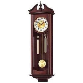 リズム時計 RHYTHM 掛け時計 キャロラインR 濃茶木地仕上 4MJ742RH06