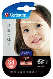 Verbatim バーベイタム SDXCカード Verbatim(バーベイタム) SDXC64GJVB3 [64GB /Class10][SDXC64GJVB3]