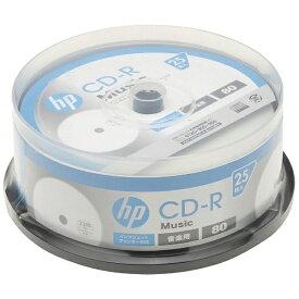 HP ヒューレット・パッカード CDRA80CHPW25PA 音楽用CD-R ホワイト [25枚 /700MB /インクジェットプリンター対応]