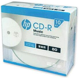 HP ヒューレット・パッカード CDRA80CHPW10A 音楽用CD-R ホワイト [10枚 /700MB /インクジェットプリンター対応]