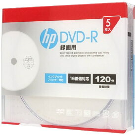HP ヒューレット・パッカード DR120CHPW5A 録画用DVD-R [5枚 /4.7GB /インクジェットプリンター対応]