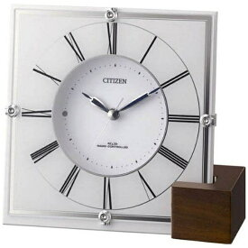 リズム時計 RHYTHM 置き時計 【マリアージュ707】 白 4RY707-003 [電波自動受信機能有]