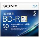 ソニー 録画用 BD-R DL Ver.1.2 1-4倍速 50GB 5枚【インクジェットプリンタ対応】 5BNR2VJPS4