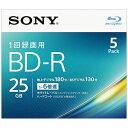 ソニー SONY 5BNR1VJPS6 録画用BD-R SONY ホワイト [5枚 /25GB /インクジェットプリンター対応]