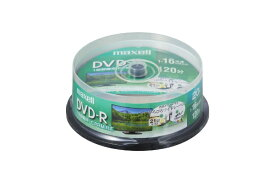 マクセル Maxell DRD120WPE.20SP 録画用DVD-R ホワイト [20枚 /4.7GB /インクジェットプリンター対応]