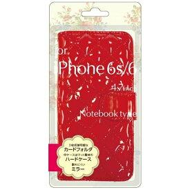 オズマ OSMA iPhone 6s/6用 手帳型 エナメル生地手帳型ジャケット レッド BJEM-IP6RD