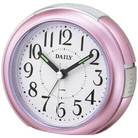 リズム時計 RHYTHM 目覚まし時計 デイリー(DAILY)RA21DN ピンクメタリック色(白) 8REA21DN13 [アナログ]