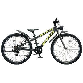 ブリヂストン BRIDGESTONE 24型 子供用自転車 BWX STREET Mサイズ(ガンメタリック×イエロー/7段変速) BXS476【組立商品につき返品不可】 【代金引換配送不可】