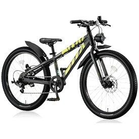 ブリヂストン BRIDGESTONE 24型 子供用自転車 BWX ELITE Mサイズ(ガンメタリック×イエロー/7段変速) BXE476【組立商品につき返品不可】 【代金引換配送不可】