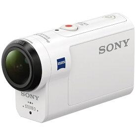 ソニー SONY HDR-AS300 アクションカメラ [フルハイビジョン対応 /防水+防塵+耐衝撃 /光学式(空間光学方式、アクティブモード搭載)][ビデオカメラ レコーダー ホワイト HDRAS300]