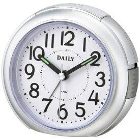 リズム時計 RHYTHM 目覚まし時計 デイリー(DAILY)RA21DN シルバーメタリック色(白) 8REA21DN19 [アナログ]