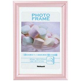 ナカバヤシ Nakabayashi 樹脂製(PVC)フォトフレーム KG判/L判(ピンク) フ-TPS-201-P[フTPS201P]