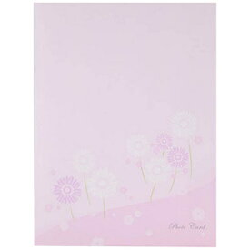 チクマ Chikuma フォトマウントカード L縦 フラワー ピンク