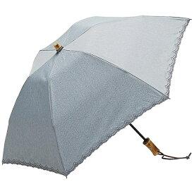 ウォーターフロント 【折りたたみ傘】レディース晴雨兼用折傘 リネン刺繍晴兼折 LS-3F50-SH(UV加工) 50cm