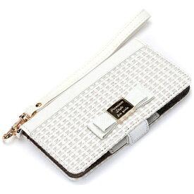 PGA スマートフォン用[幅 71mm] 多機種対応 マルチフリップカバー for girls S ホワイト PG-MFPS08WH