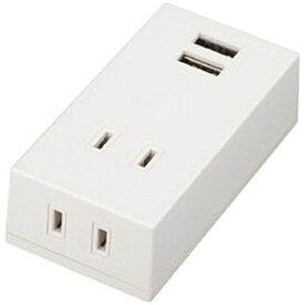ヤザワ YAZAWA USB充電ポート付きOAタップ 2AC+2USB2.1A(ホワイト) Y02FS400WH2U[Y02FS400WH2U]