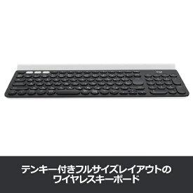 ロジクール Logicool 【スマホ/タブレット対応】ワイヤレスキーボード[Bluetooth4.0・Android/iOS/Mac/Win/Chrome] K780 マルチデバイス (101キー・ブラック/ホワイト) K780[K780]