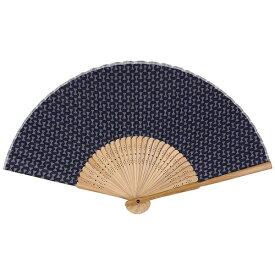 サクラクレパス SAKURA COLOR PRODUCT [扇子] 綿製さくら扇子 藍色(モダン鼓) QS-131#43