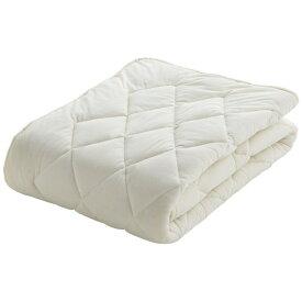 フランスベッド FRANCEBED 【ベッドパッド】クランフォレスト 羊毛ベッドパッド(ダブルサイズ/140×195cm/キナリ) フランスベッド