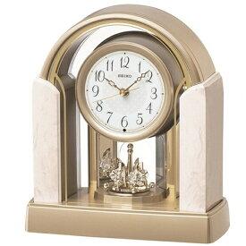 セイコー SEIKO 置き時計 【スタンダード】 アイボリーマーブル模様 BY236G [電波自動受信機能有]