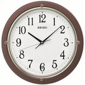 セイコー SEIKO 掛け時計 【スタンダード】 茶メタリック KX217B [電波自動受信機能有]