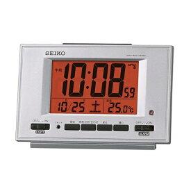 セイコー SEIKO 目覚まし時計 銀色メタリック SQ780S [デジタル /電波自動受信機能有]