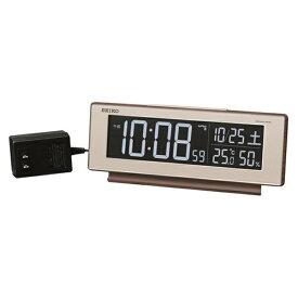 セイコー SEIKO 目覚まし時計 【シリーズC3】 茶木目模様 DL211B [デジタル /電波自動受信機能有]
