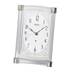 セイコー SEIKO 置き時計 【スタンダード】 薄緑 BZ360M [電波自動受信機能有]