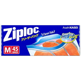 旭化成ホームプロダクツ Asahi KASEI Ziploc(ジップロック)フリーザーバッグ Mサイズ 45枚入