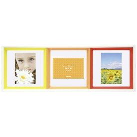 ナカバヤシ Nakabayashi スクエアコレクション L判3面正方形フレーム (オレンジ) フ-TP-220-OR[フTP220OR]