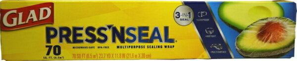 The Clorox Company クロロックス 食品包装用ラップ 「グラッドプレス&シール」 PRESS'N SEAL[PRESSNSEAL]
