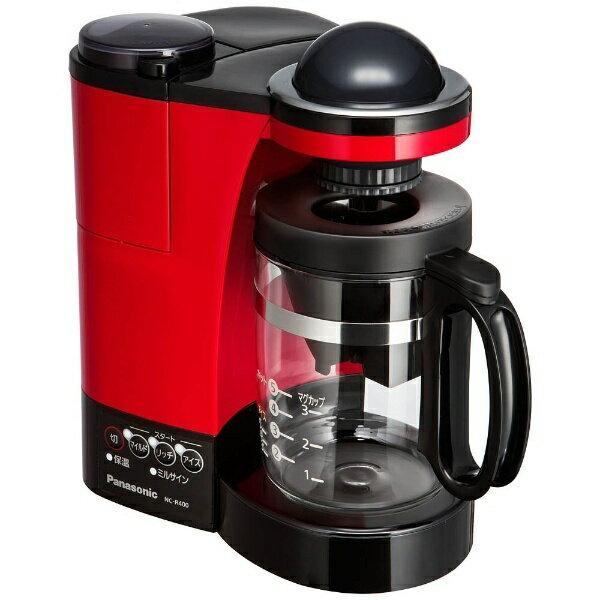 【送料無料】 パナソニック Panasonic NC-R400 コーヒーメーカー レッド [ミル付き][NCR400]