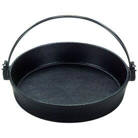 三和精機製作所 《IH対応》 鉄 すきやき鍋 ツル付(黒ぬり) 24cm <QSK50024>[QSK50024]