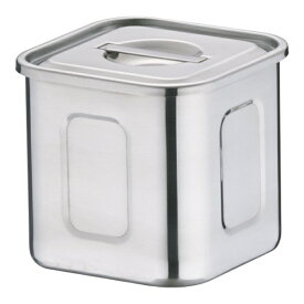 三宝産業 SAMPO SANGYO 18-8深型角キッチンポット 9cm <AKK06009>[AKK06009]